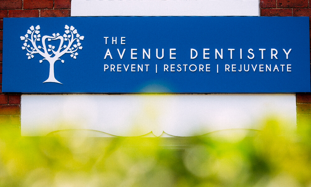 External signage at The Avenue Dentistry